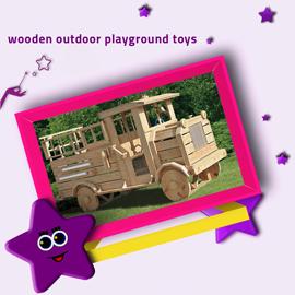 [Toys]wooden outdoor playground toys